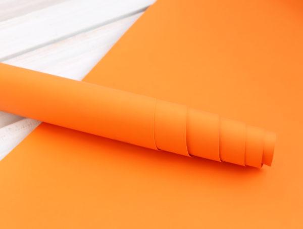 Переплетный кожзам, матовый, цвет: Оранжевый (Китай)
