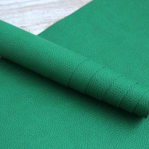 Переплетный кожзам, матовый с тиснением под кожу, цвет: Яркий зеленый (Италия)
