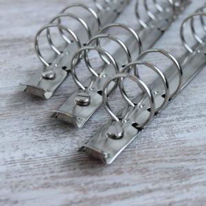 Кольцевой механизм 17.5 см, кольца 30 мм, Серебро