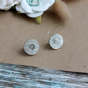 Кнопка магнитная с рисунком, диаметр 14 мм, цвет: Серебро