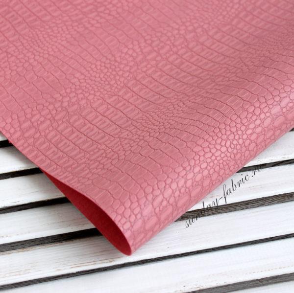 Переплетный кожзам, матовый с тиснением крокодил, цвет: Насыщенный мятный