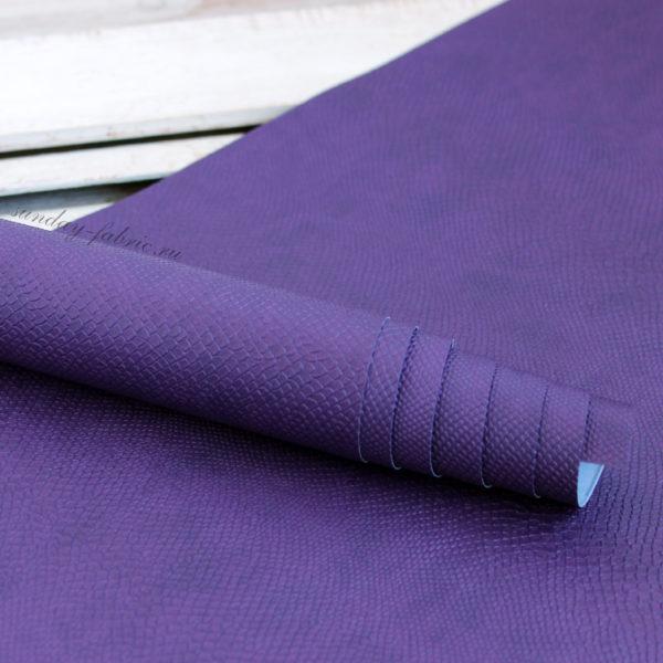 переплетный кожзам питон фиолетовый