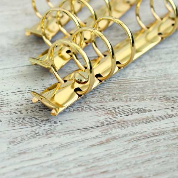 Кольцевой механизм 22,5 см, кольца 30 мм, Золото