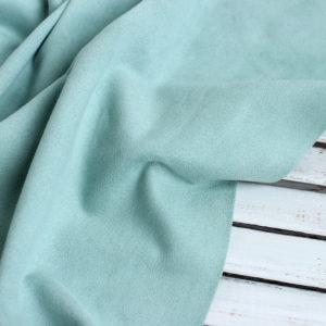 Замша двусторонняя, цвет Мятный, отрез 50х35 см