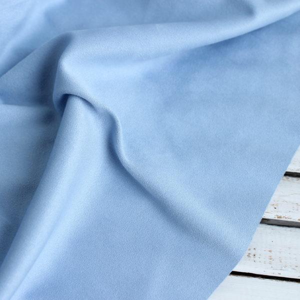 Замша двусторонняя, цвет Голубой, размер 70*33 см