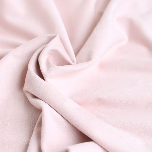 Замша двусторонняя, цвет Нежно-розовый, размер 70*33 см