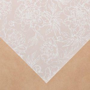 """Лист декоративной кальки """"Пионы"""", 30,5х30,5 см (АртУзор)"""