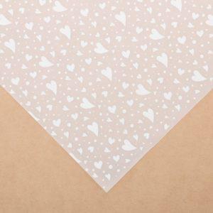 """Лист декоративной кальки """"Сердечки"""", 30,5х30,5 см (АртУзор)"""