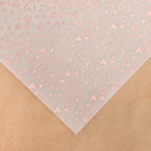 """Лист декоративной кальки с фольгированием """"Любовь"""", 30,5х30,5 см (АртУзор)"""