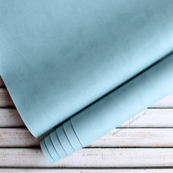 Переплетный кожзам, матовый, цвет: Серо-голубой (Италия)