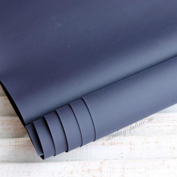 Переплетный кожзам, матовый, цвет: Синий (Китай)