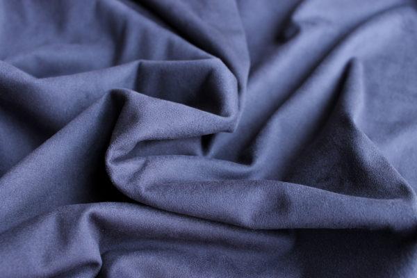 Замша двусторонняя, цвет Полночный синий, размер 70*33 см