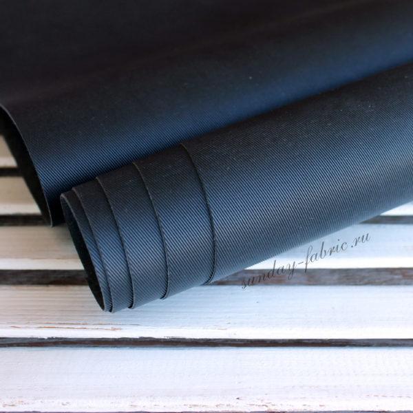 Переплетный кожзам, матовый с тиснением ДЖИНСА, цвет: Черный