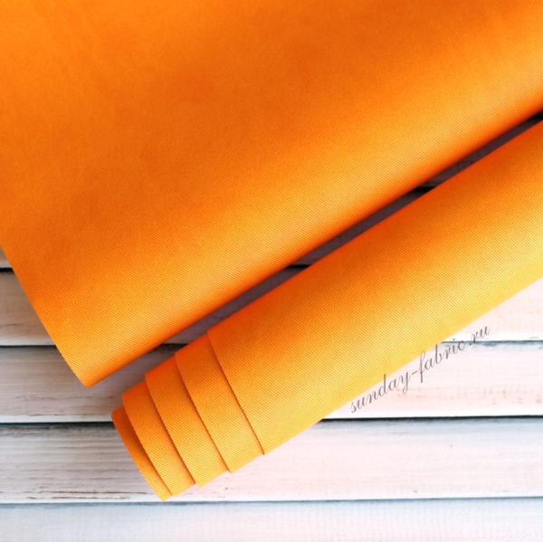 Переплетный кожзам, матовый с тиснением ДЖИНСА, цвет: Желтый