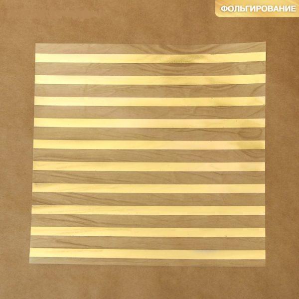 """Ацетатный лист с фольгированием """"Полосы"""", 20х20 см (АртУзор)"""