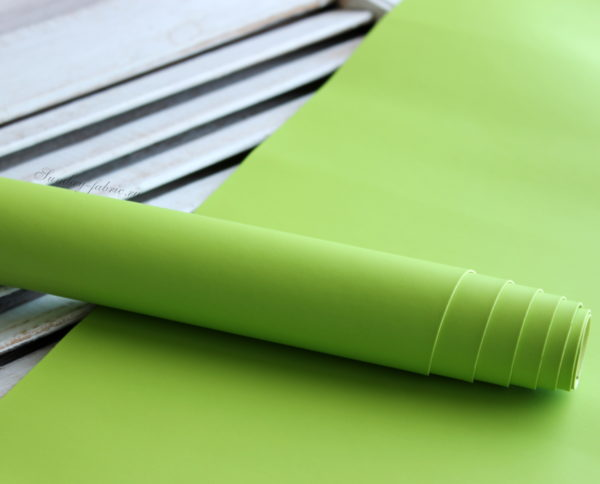 переплетный кожзам матовый светло-зеленый