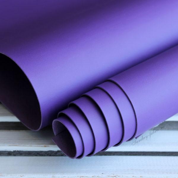 Переплетный кожзам, матовый без текстуры, цвет: Фиолетовый (Италия)