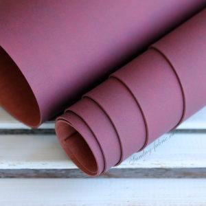Переплетный кожзам Велюр, матовый, цвет: Темно-вишневый (Италия)