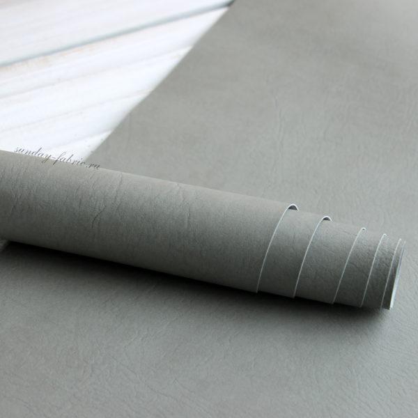 переплетный кожзам светло-серый