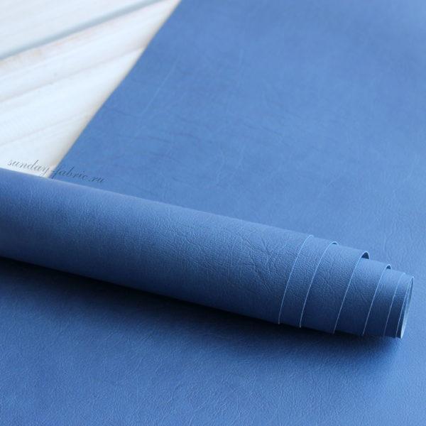 переплетный кожзам синий