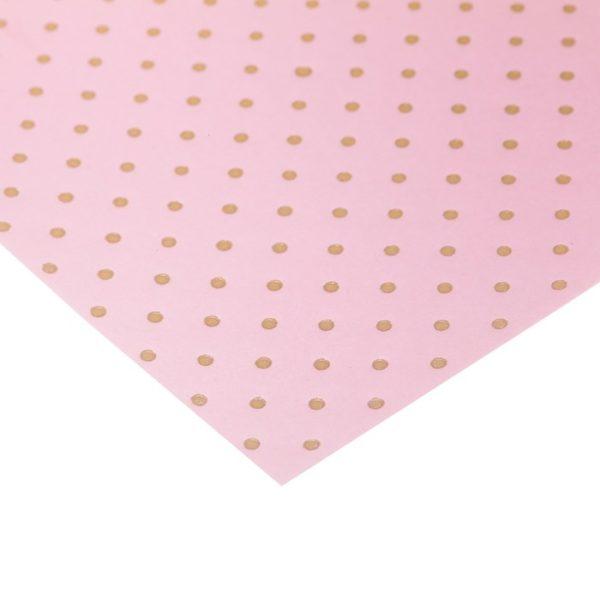 """Бумага для скрапбукинга с фольгированием """"Горошек розовая"""", 30,5х30,5 см (АртУзор)"""