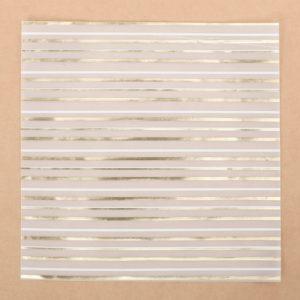 """Лист декоративной кальки с фольгированием """"Полосы"""", 30,5х30,5 см (АртУзор)"""