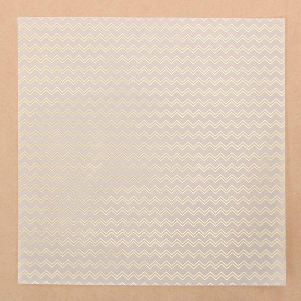 """Лист декоративной кальки с фольгированием """"Шеврон"""", 30,5х30,5 см (АртУзор)"""