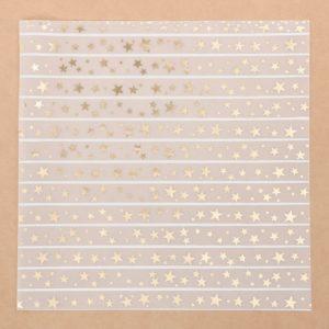 """Лист декоративной кальки с фольгированием """"Звездный дождь"""", 30,5х30,5 см (АртУзор)"""
