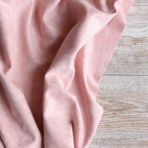 Замша двусторонняя, цвет Пудра, размер 70*25 см