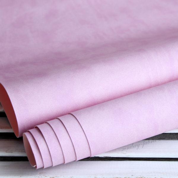Переплетный кожзам, матовый, цвет: Лилово-розовый