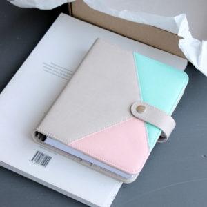 Планер формата B6 (145х180 мм), цвет Теплый серый/Мятный/Светло-розовый