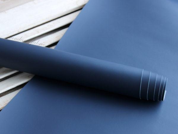 Переплетный кожзам, матовый без текстуры, цвет: Темно-синий (Италия)