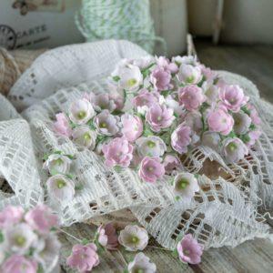 """Набор тканевых цветов """"Малыши розовые"""", 10 шт. (Pastel Flowers)"""