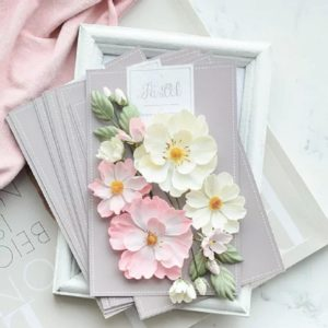 "Набор тканевых цветов ""Шиповник Розовый"", 14 шт. (Pastel Flowers)"