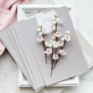 "Набор тканевых цветов ""Веточки вишни"", 4 шт., (Pastel Flowers)"