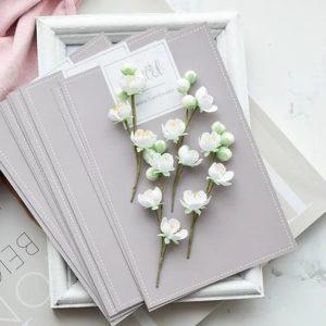 """Набор тканевых цветов """"Веточки яблони"""", 4 шт., (Pastel Flowers)"""