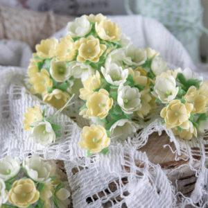 "Набор тканевых цветов ""Малыши желтые"", 10 шт. (Pastel Flowers)"