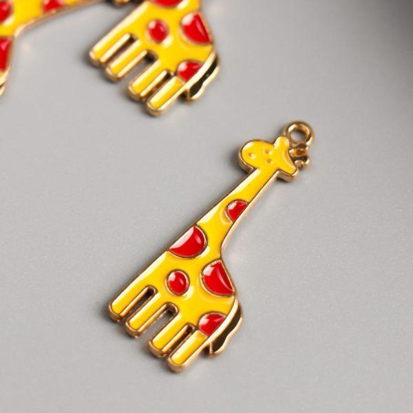 "Подвеска декоративная ""Жираф"", размер 32х13 мм, 1 шт."