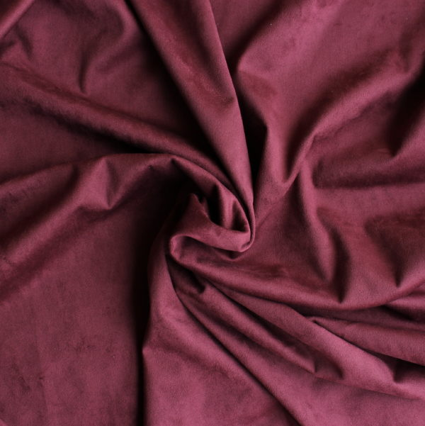 Замша двусторонняя, цвет Марсала, размер 70*25 см